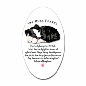 """Pit Bull Prayer"" Oval Sticker"