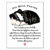 Pit Bull Prayer Poster