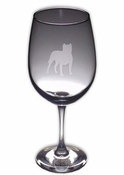 Pit Bull Wine Glass (Profile Cropped Ears)