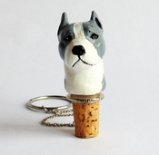 Blue Pit Bull Wine Stopper (Head)