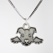 Pit Bull With Wings Necklace