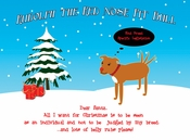 Rudolph the Red Nose Pit Bull Cards (Pack of 10)