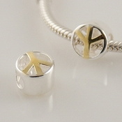 Silver and Gold Peace Charm