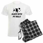 Sleeps With Pit Bulls Mens Pajamas