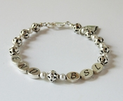 Sterling Silver and Pearls END BSL Bracelet
