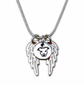 Sterling Silver Pit Bull Charm with Wings