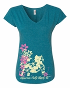 Tropical Teal Pit Bull Women's T-Shirt