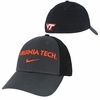 Anthracite Virginia Tech Legacy 91 Swoosh Flex Nike Hat