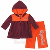 Baby Girls Virginia Tech Snowflake Polar Fleece Set