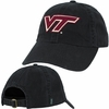 Black Virginia Tech Adjustable Felt Applique Hat