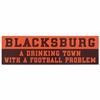 Blacksburg Drinking Town Car Magnet