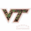 Camo VT Logo Decal 6in