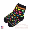 Child's Hokies Neon Hearts Socks