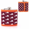 Flask with Reversible Maroon and Orange Cover