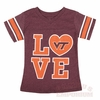 Girl's Love Virginia Tech Sparkle Pixie Top