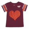 Girl's Virginia Tech Big Heart Tee