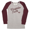 Girl's Youth Virginia Tech Long Sleeved Striped Tee