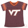 Girls Virginia Tech Glitter Tee