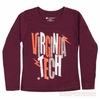 Girls Virginia Tech Sparkle Long Sleeved Tee