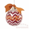 'Go Hokies' Chevron Ball Ornament