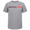Gray Virginia Tech Athletic Cotton Nike Tee