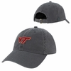 Gray Virginia Tech Relaxed Twill Cap