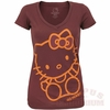 Hello Kitty Go Hokies V-Neck Tee