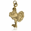Hokie Bird 10K Gold Charm