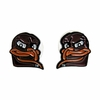 Hokie Bird Head Post Earrings