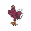 Maroon Hokie Bird Iron-on Patch