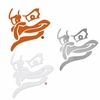 Hokie Bird Silhouette Decal