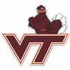 Hokie Bird with VT Logo Car Magnet