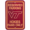 Hokie Fan Parking Sign