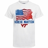Hokie Nation American Flag Tee