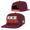 Hokie Nation Nike Pro Snapback Hat