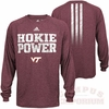 Hokie Power Climalite Long Sleeved Tee by Adidas