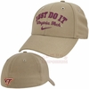 Khaki Virginia Tech Swoosh Flex Nike Legacy91 Hat