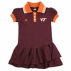 Kid's Virginia Tech Preppy Fan Polo Dress by Adidas