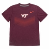 Kids Maroon Virginia Tech Nike Dri-FIT Tee