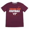 Kids Virginia Tech Football Classic Nike Tee