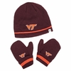 Kids VT Knit Beanie and Mittens Set