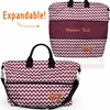 Large Virginia Tech Expandable Chevron Tote