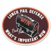 Lunch Pail Defense Oval Decal
