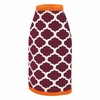 Maroon and Orange Bottle Coozie