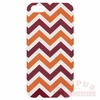 Maroon and Orange Chevron Stripe iPhone 5 Case