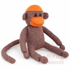 Maroon and Orange Hand Made Sock Monkey