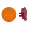 Maroon and Orange Peephole Covers