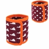 Maroon and Orange Reversible Can Coozie