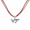 Maroon and Orange Virginia Tech Necklace