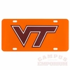 Maroon and Orange VT License Plate